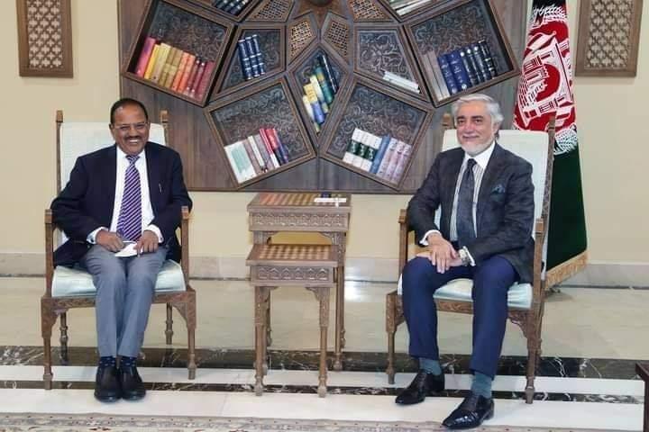 عبدالله عبدالله کابل کې د هند د ملي امنیت سلاکار سره کتلي.