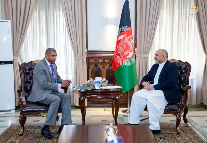 د هیواد د بهرنیو چارو وزیر کابل کې د سعودي له سفیر سره کتلي.